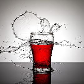 Splash! by Ramakant Sharda - Abstract Water Drops & Splashes ( water, splashing, splash, splash photography, glass, splash water photography, splash water )