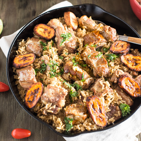 ONE POT BRAZILIAN PORK RICE WITH PLANTAINS
