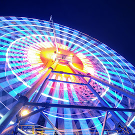 Color of the ferris wheel. by Bảo Long - Abstract Light Painting ( exposure, park, color, night, vietnam, saigon, long, painting, light, damsen, city, ferris wheel )