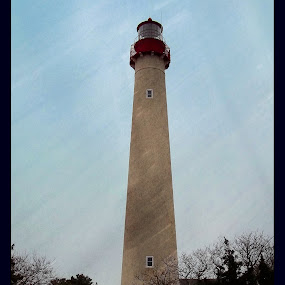 Cape May Lighthouse by Nancy Sadowski - Digital Art Places ( winter, lighthouse, cape may, new jersey )