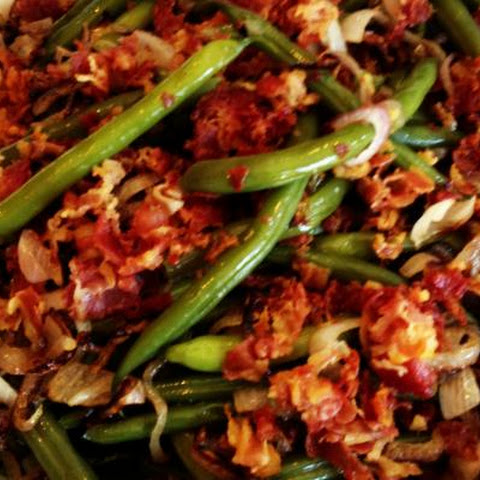 Green Beans with Shallots and Crispy Pancetta