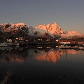 Ballstad Lofoten by Karl-roger Johnsen - Landscapes Sunsets & Sunrises