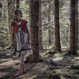 Alone in the forest by Kim Moeller Kjaer - Babies & Children Child Portraits
