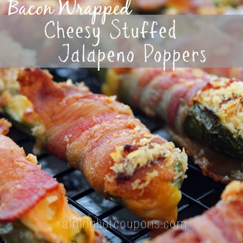 Baked Bacon Wrapped Velveeta Jalapeno Poppers
