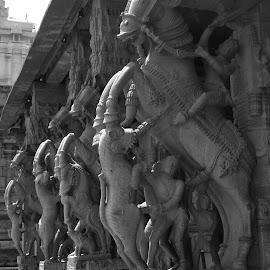 Srirangam Temple Pillar by Ramachandran Sridhar - Buildings & Architecture Statues & Monuments