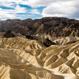 View from Zabriskie by Richard Michael Lingo - Landscapes Mountains & Hills ( death valley, zabriskie point, mountains, california, landscape, badlands )
