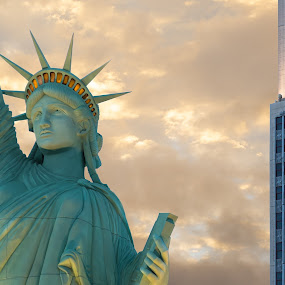 Lady Liberty Vegas by Eric Yiskis - Buildings & Architecture Architectural Detail ( liberty, las vegas, detail, statue, new york new york, nevada, casino, hotel, strip )