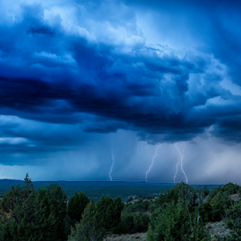 Monsoon storms 2 by Matthew Kuiper - Landscapes Weather ( lightning, storms )