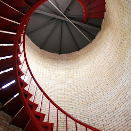 nauset lighthouse, looking up by Susanne Carlton - Buildings & Architecture Other Interior