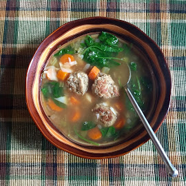 Turkey meatball soup by Wendy Greenhut - Food & Drink Plated Food