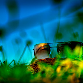 Sun glass sunset by Mohamad Sa'at Haji Mokim - Artistic Objects Clothing & Accessories ( glasses, artistic objects, accessories )