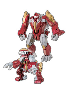 Робот трансформируется в Дракона красный M