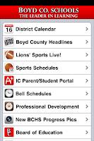 Screenshot of Boyd County Schools