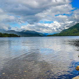 Loch Lomond by Stuart Lilley - Landscapes Waterscapes ( lochs, waterscape, reflections, loch, waterscapes, relax, tranquil, relaxing, tranquility )