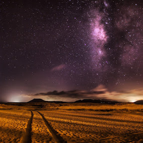 Two Roads by Wojciech Toman - Landscapes Starscapes