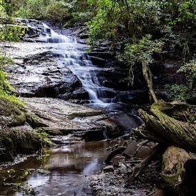 Waterfall by Johann Bekker - Novices Only Landscapes