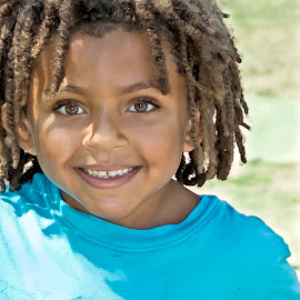 Mr Sweetie by Joan Sharp - Babies & Children Children Candids ( child, brown eyes, little boy, portraits, brown curly hair,  )