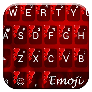 Valentine Red 2 Emoji Keyboard