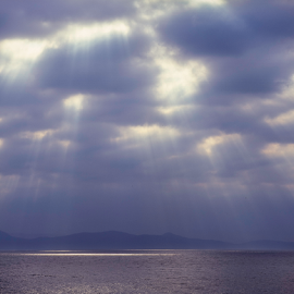 A ring of bright water by Annette Flottwell - Landscapes Weather ( jura, sound, sea, ocean, hebrides, highlands, pentax 67,  )