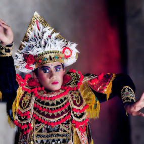 a Bali Dancer by Anif Putramijaya - People Portraits of Men