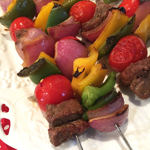 Marinated Beef Shish Kabobs With Veggies
