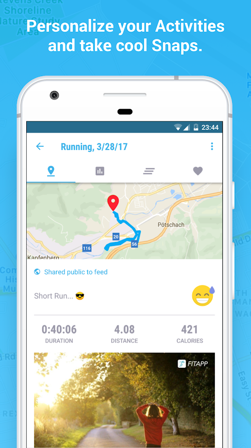 FITAPP Running Walking Cycling Fitness GPS Tracker Screenshot 2