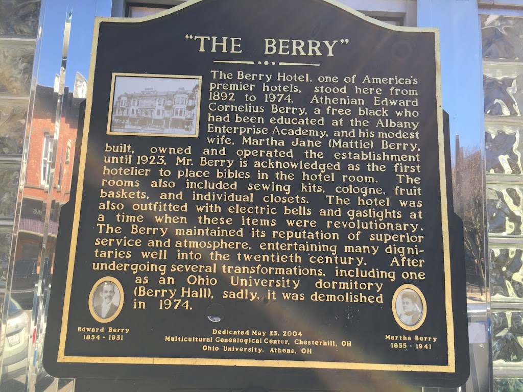 """The Berry"" The Berry Hotel, one of America's premier hotels, stood here from 1892 to 1974. Athenian Edward Cornelius Berry, a free black who had been educated at the Albany Enterprise Academy, and ..."