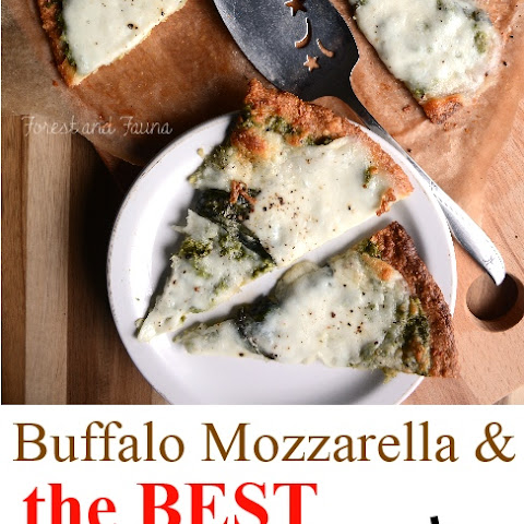 Buffalo Cheese on my Favorite Low Carb Pizza Crust