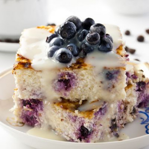 Light Vanilla Blueberry Coffee Cake