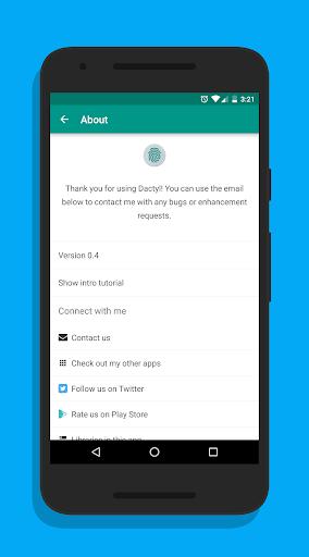 Dactyl - Fingerprint Camera - screenshot