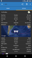 Screenshot of ISS Detector Satellite Tracker