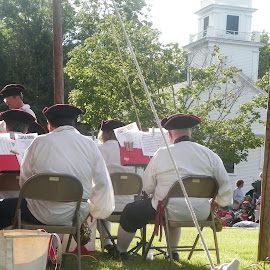Temple town band on the fourth of July by Stephen Deckk - Public Holidays July 4th