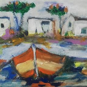 Near sea by Vanja Škrobica - Painting All Painting