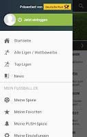 Screenshot of FUSSBALL.DE