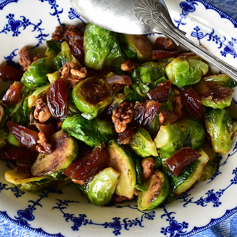 Sauteed Brussels Sprouts with Dates and Walnuts. And a full report.