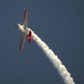 Leaving Smoke by Larry Bidwell - Transportation Airplanes