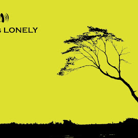 by Alay Shah - Typography Captioned Photos ( plant, need, single, single tree, silhouette, yellow, need of the hour, nature, bushes, feeling, black and yellow, trees, earth, plant more trees, lonely, alone, black )