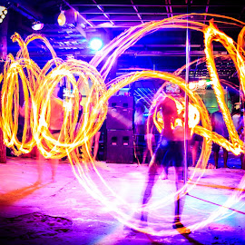 Fireshow at Phi Phi Island by Valliappan Chellappan - Abstract Fire & Fireworks ( play, dangerous, fire, nightlife, fireshow )