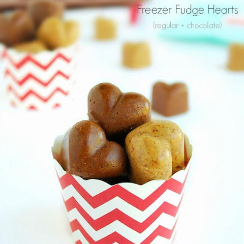 Almond Butter Freezer Fudge Hearts - Regular flavor