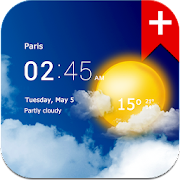 Transparent clock weather Premium