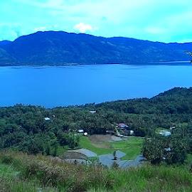 Lake Singkarak, West Sumatera. by Adi Boreel - Landscapes Travel ( water, hills, mountain, blue, lake, travel, landscape )