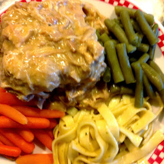 Chicken and Gravy in the Slow Cooker