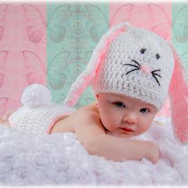 Hi there by Melissa Culp - Babies & Children Babies ( firsteaster, easter, littleemma, girlbunny, emma )