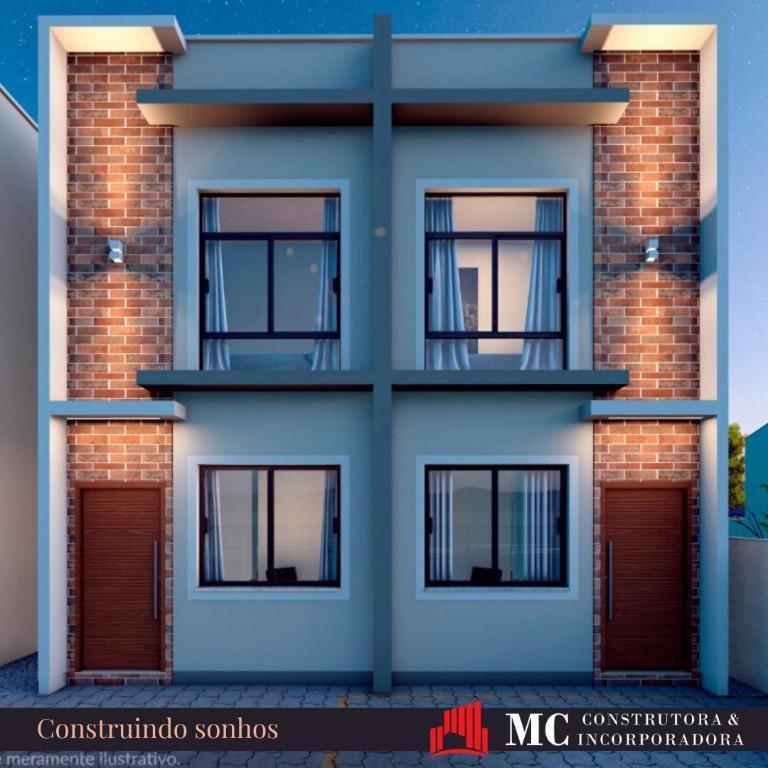 Sobrado com 2 dormitórios à venda, 66 m² por R$ 175.000 - Joaia - Tijucas/SC