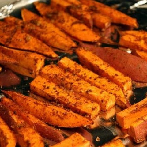 Healthy Sweet Potato Baked Fries Snack