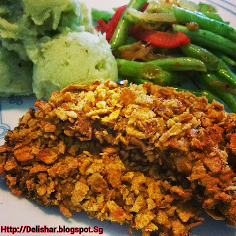 Not-Fried Cornflakes Chicken Tenders