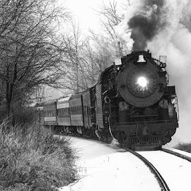 Michigan's Polar Express by Ron Barrons - Transportation Trains