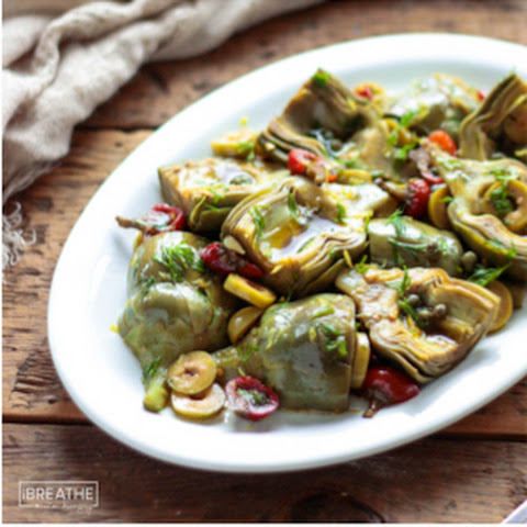 Marinated Baby Artichoke Antipasto - Low Carb