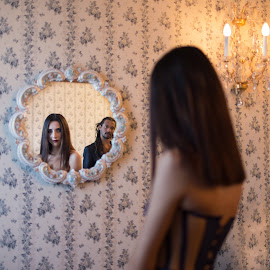 mirror,mirror... by Irina Ciurla - Uncategorized All Uncategorized ( mirrored reflections, mirror, reflection, model, woman,  )
