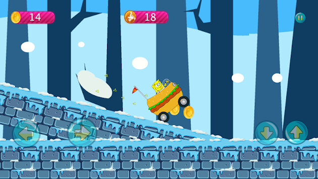 Sponge-bob Jungle Hill Climb APK screenshot thumbnail 4